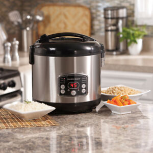 NEW Hamilton Beach 4-20 Cup Rice Cooker and Steamer