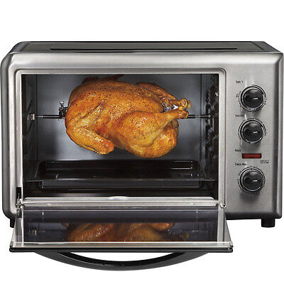 Hamilton Beach Countertop Convection Toaster Oven w/ Rotating Rotisserie & Broil