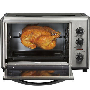 ... -Beach-Countertop-Convection-Toaster-Oven-w-Rotating-Rotisserie-Broil