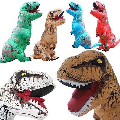 Inflatable Dinosaur T- REX Costume Fantasia Adults Halloween Cosplay Dress lot