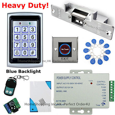 USA Metal 125KHZ RFID Card+ Password Door Access Control System+Door Strike Lock