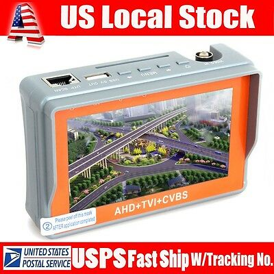 W43ATC Portable 1080P AHD+TVI+CVBS Analog CCTV Camera Tester DC12 Power Output