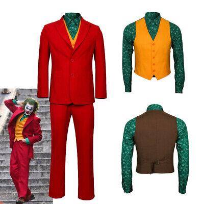 The Joker Origin Arthur Fleck Cosplay Costume Men's Halloween Outfit Handmade - The Joker Halloween Outfit