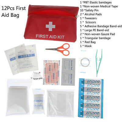1Set First Aid Energency Mini Outdoor Home Medical Bag Emergency Survival KitX_L