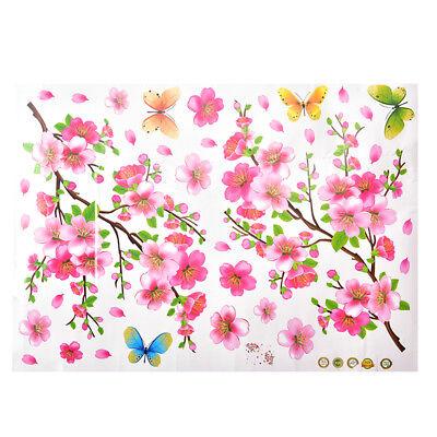 Cherry Blossom Tree Flower Butterfly Wall Sticker Vinyl Art Mural DIY Decals HQP Cherry Blossom Tree Art