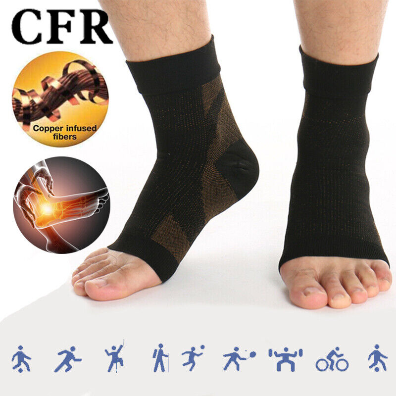 copper ankle support brace compression sock sleeve