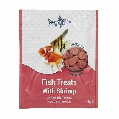 FishScience Fish Treats + Shrimp 9g Aquarium Food Science Tropical stick on tabs