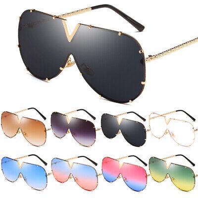 Oversized Sonnenbrille Herren Damen Luxus Fashion Designer Blogger Brille UV400