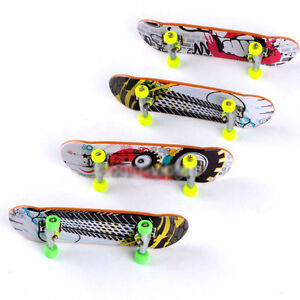 4 Pack Finger Board Tech Deck Truck Skateboard Toy Gift Boy Kids Children Party