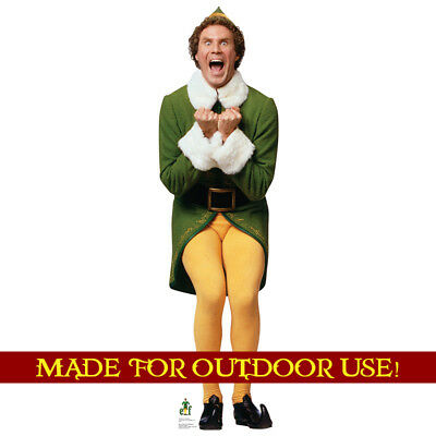 BUDDY Elf Phoney Outdoor YARD SIGN Standup Standee Weather Resistant Christmas