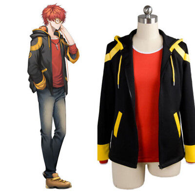 Mystic Costume (Hot Game Mystic Messenger 707 Luciel Cosplay Costume Adults Jacket Hooded)