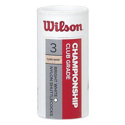 Wilson Championship 3 Tube White Federbälle Badminton Green - Slow