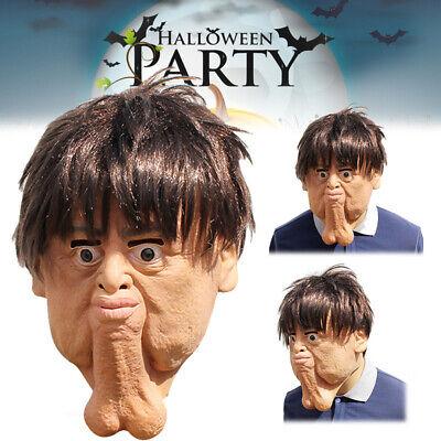 Halloween Gesichtsmaske Adult Double Chins Lustige Horror Scary - Lustige Halloween Gesichter