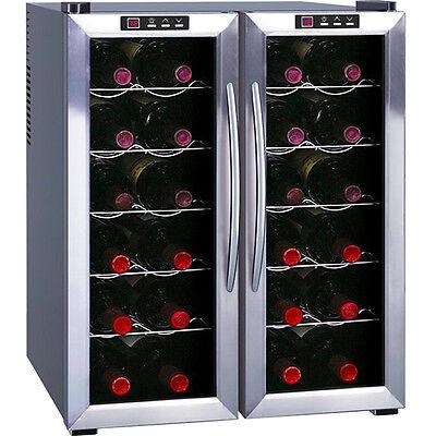 Dual Zone Wine Refrigerator w/ SS Silver ...