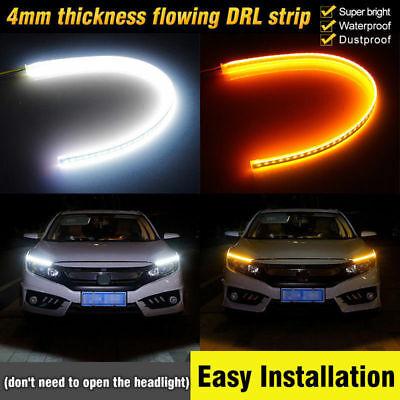 3c China (2X 60cm LED Blinker Streifen DRL Scheinwerfer Tagfahrlicht Lampe Universal 12V)