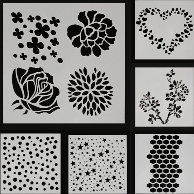 Reusable stencil template airbrush painting arts for Arts and crafts stencils craftsman