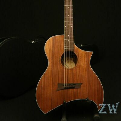 In Stock Handmade 40in Electric Acoustic Guitar Sharp Cutway Walnut Top&Backside