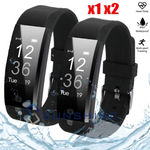 Rechargeable Fit**bit Waterproof Fitness Heart Rate Calorie