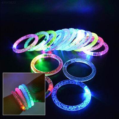 LED Acrylic Bracelet Light Up Wristband Bangle Flashing Wear Glow Blinking