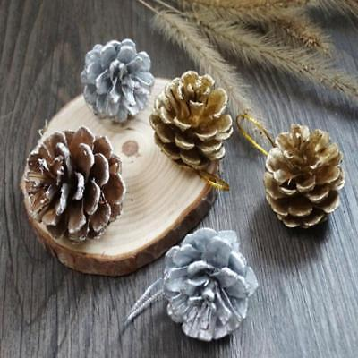 Christmas Pine Cones Wood Pinecone Tree Decoration Crafts For Home Ornament KV ()