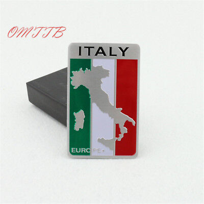 c9/3,   Auto Alloy Metal 3D Emblem Badge   Sticker  ITALY Italian Flag