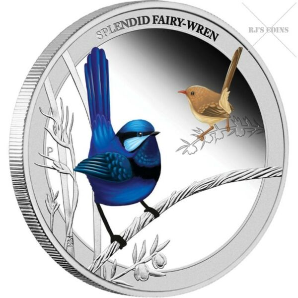 """BIRDS OF AUSTRALIA - FIVE """"½ oz"""" SILVER PROOF COINS FROM THE PERTH MINT - 2013 COMPLETE SERIES"""