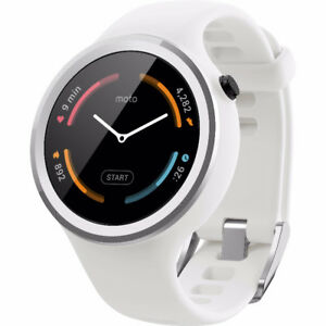 Motorola Moto smart watch 360 Sport - 45mm, White. New in Box