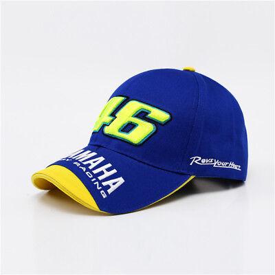 YAMAHA FACTORY RACING BLUE BASEBALL CAP MOTO GP HAT NEW VR/46