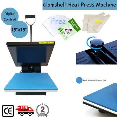 15x15 Clamshell Heat Press Transfer Machine Digital Sublimation Vinyl T-shirt