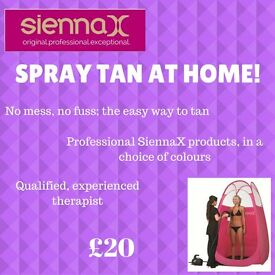 Spray tans at home, ready for your Christmas party!