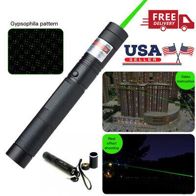 532nm 50Miles Pointer Pen Burning Beam Green Light USA High Power Military Laser