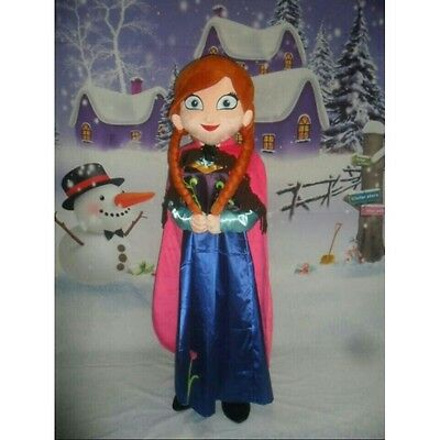 MASCOT COSTUME FOR ADULTS FROZEN ANNA PER PARTIES AND BIRTHDAYS SIZE XXL NEW (Anna Frozen Costumes For Adults)