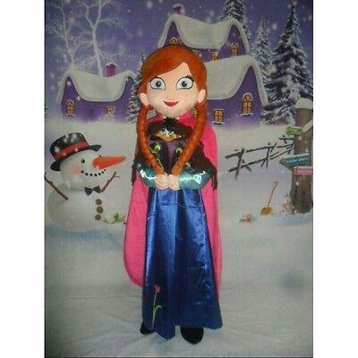 Maskottchen Kostüm für Erwachsene Frozen Anna für Feste und Geburtstage Größe M