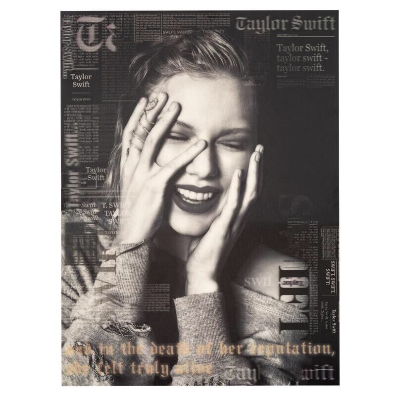 reputation lenticular 3d holographic poster - taylor swift