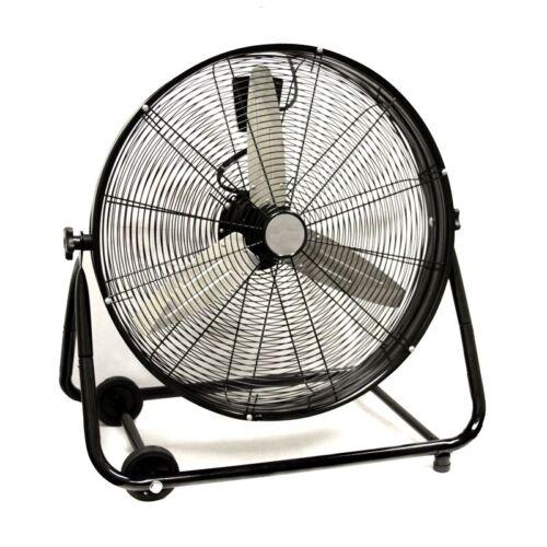 "24"" Commercial Industrial Drum Fan Barrel Rolling Adjustable"