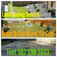 Landscaping Service. Sod, Garden Beads & A Lot More.