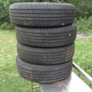 4 Used Truck Tires P235/75R17 DynaPro AT