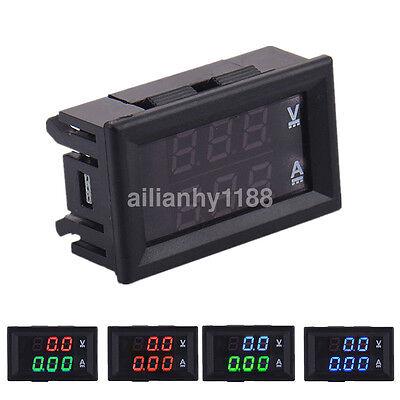 Dc 100v 10a Led Digital Volt Amp Current And Voltage Meter Voltmeter Ammeter New