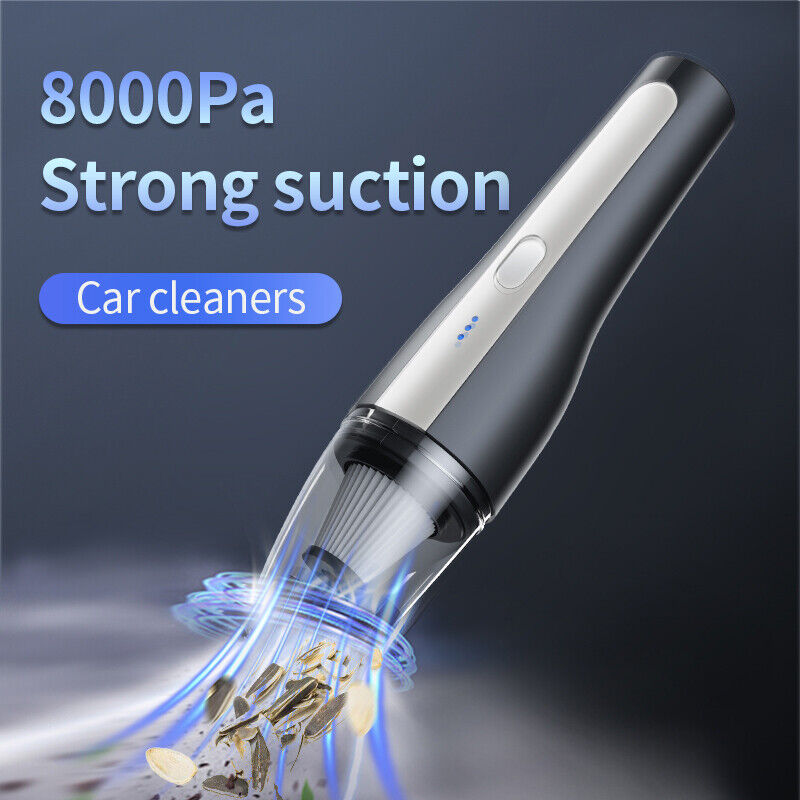 Cordless Car Vacuum Cleaner Handheld Home Rechargeable Wet & Dry Duster Portable