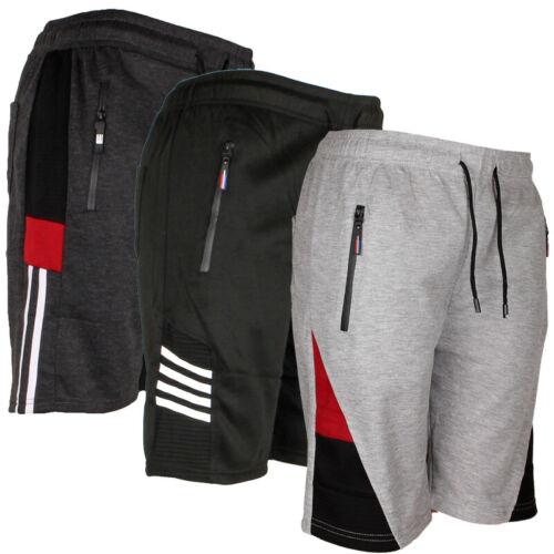 Mens Jogger Shorts W/draw String, Running Active Sports, Zipper Pockets