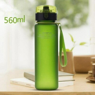 Water Bottle Leak Proof Sports Outdoor Hiking Portable Plastic Bottles Drinkware