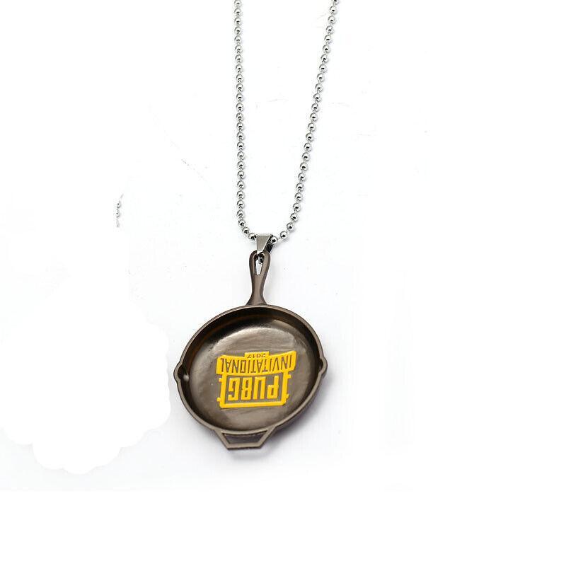 Metal Pan Playerunknown/'s Battlegrounds Necklace PUBG Pandants Beads Chain