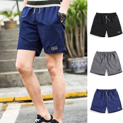 Herren Flat Front Shorts Kordelzug Lose Laufende Beiläufig Klassische Kurze Hose - Klassische Flat Front Shorts