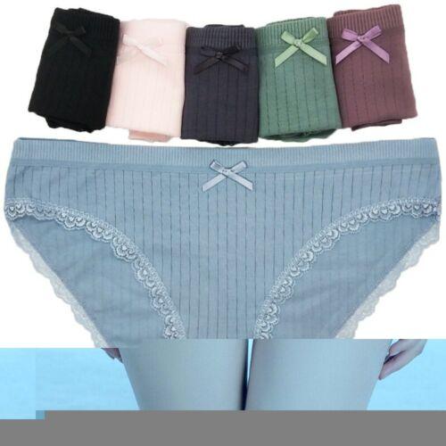 6stk/set Damen Taillenslips Slips Unterhosen Soft Baumwolle Unterwäsche M/L/XL