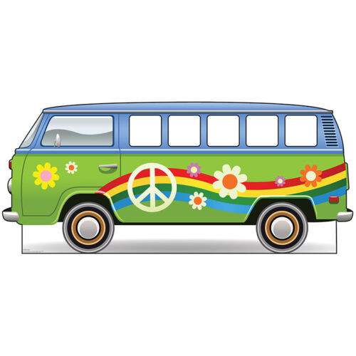 HIPPIE BUS Stand-In CARDBOARD CUTOUT Standup Standee Standin 60s Child Sixties