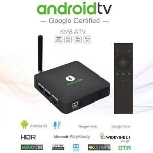 KM8 ATV Android TV Box 2/16GB WIFI Dolby 4K Google Voice control Doveton Casey Area Preview