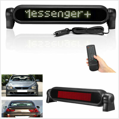 Car Electronic Scrolling Message White Led Display Programmableremote Control