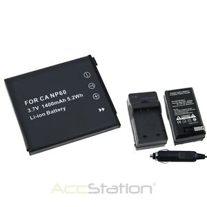 Battery+Charger for Casio Exilim EX S10 Z80 NP-60 EX-Z9