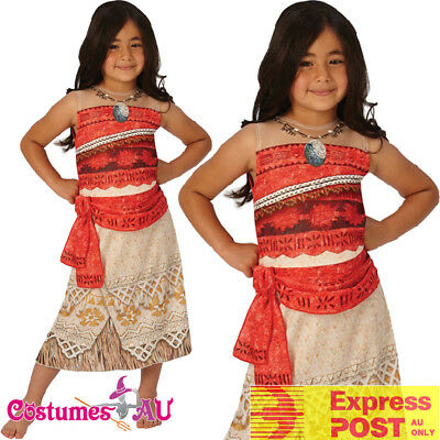 Disney Moana Polynesia Princess Dress Girls Kids Book Week Hawaiian Costume](Hawaiian Disney Princess)