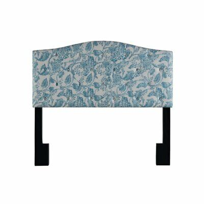 camelback upholstered full or queen panel headboard